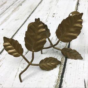 Leaf Branch Curtain Tie Back Set Gold
